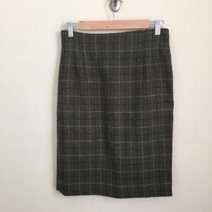 Vintage Jones NY windowpane plaid pencil skirt 8